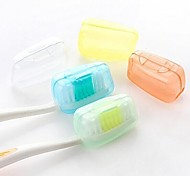 Travel Travel Toothbrush Container/Protector / Inflated Mat Toiletries Antibacterial Plastic