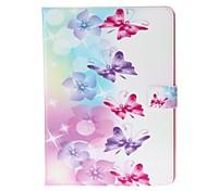 stilvolle Schmetterling Muster Protective PU Ledertasche für ipad 6