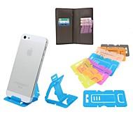 criativa portátil suporte dobrável ultra-fino para iphone 6 e outros (cores sortidas)