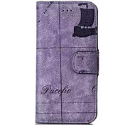 Map Pattern Wallet Leather Case  for iPhone 6(Assorted Colors)