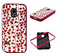 motif de fleurs de couverture de cas pour les Samsung Galaxy S i9600