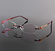 [Free Lenses] Titanium Oval Rimless Lightweight Prescription Eyeglasses