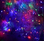 8 modos de 10m 100 seqüência levou feriado festa de natal casamento luz de fadas multicolor (multicolor com plug cauda)