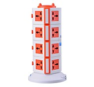 Overload Protector 5V/2.1A 4 Floor with 15 Universal Outlets and 2 USB UK Adapter Power Strips