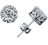 925 Sterling Silver Crown Earrings