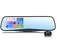 """vista gt 4.3 """"touch androide 4.0 gps del dvr del coche espejo retrovisor 1080p FHD fm wifi navegación tablero"""
