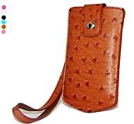 dengpin pu cuero de avestruz bolsa cubierta de la caja de la cámara del estilo de la piel con correa de mano para sony dsc-kw1 kw1 cyber-shot