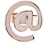 "Lureme®Gold Plated ""@"" Pattern Ring"