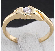 High-End Atmosphere Zircon Ring