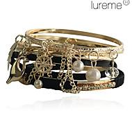 Originale bracciale da donna, lega e perle (7 pezzi)