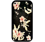 Morning Glory Pattern Back Case for iPhone 4/4S