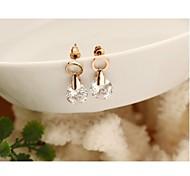 Fashion Zirconia And Metallic Earring #62-1