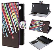 Shooting Stars PU Leather Case Cover with Stand and Card Slot for Sony Xperia E3 D2203 D2206