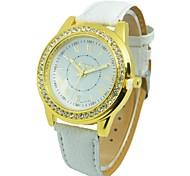 Women's Geneva New Fashion Belt Round Diamond Watch China Movement Watch (Assorted Colors)