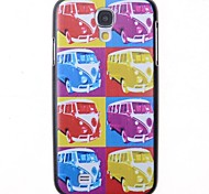 Retour motif cartoon bus couverture pour les Samsung Galaxy S i9500