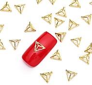 50pcs Gold 3d Nail Art Legierung Scheibe metallischen golden glitzernden Ohr Niet Nagel Schmuck für Nageldesign