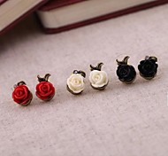 Europe and The United States To Restore Ancient Ways The Roses Asymmetric Stud Earrings