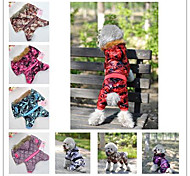 Fashion Design Coat with Hood for Pet Dogs (Assorted Colors,Assorted Sizes)