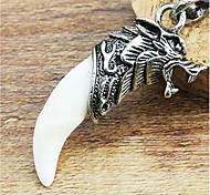 зло избежать волк ожерелье голова слоновой кости