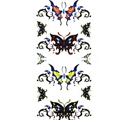 1Pc Butterfly Tattoo Sticker 18.5x8.8CM