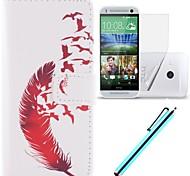 Для Кейс для HTC Бумажник для карт / Кошелек / со стендом / Флип Кейс для Чехол Кейс для Перо Твердый Искусственная кожа HTC