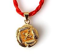 moda feminina bonito pingente banhado a cobre de ouro cor clássico retro