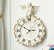 Angel Theme Embossed Polyresin Wall Clock