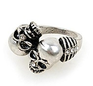 Fashion Alloy Rhinestone Skull Rings Random Color