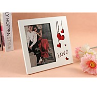 Personalized Framed Photo 6 Inches Love Design White Wooden Frame with Stand 1 Photo
