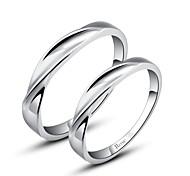 Paar Ringe Silber Silber