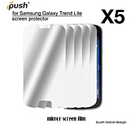 protetor de alta transparência espelho lcd de tela para Samsung Lite tendência galáxia s7390 (5 peças)