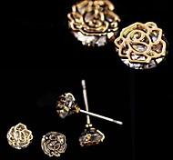 Fashion Zirconia And Metallic Earring #67-1