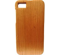 Kyuet Wooden Case Natural Handcrafted Cherry Wood Shell Cover Skin Cell Phone Case for BlackBerry Z10