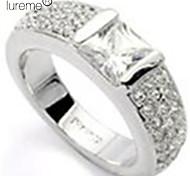 lureme®square bague en diamant de cristal constellée (couleurs assorties)