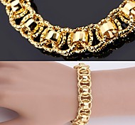 U7® New Bracelet Bangle 18K Real Chunky Gold Platinum Plated Bangle 12MM 21CM