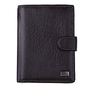 LK503SI High Quality Men's Fashion Business Cowhide Genuine Leather More Screens Wallet