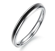 Fashion Women's Black Titanium Steel Band Rings(1 Pc)