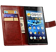 Retro PU Leather Wallet Case for Lenovo K900 (Assorted Colors)