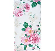 Beautiful Rose Flower Pattern PU Leather Case Cover with Stand Card Holder for Sony Xperia Z3