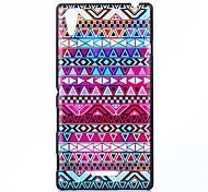 colorido estilo folk patrón pc caso duro para sony xperia t3