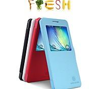 auto slaap / waak-up s uitzicht scherm zichtbaar full body case voor de Samsung Galaxy a5 A5000 (assorti kleur)