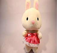 Unisex Recording Rabbit Dress Plush Toy