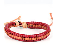 High Fashion Leather Braided Bracelet Rose Orange Color(1 Piece)