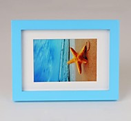 Personalized Framed Photo 7 inches Colourful Wooden Frame with Hanging Hook 1 Photo