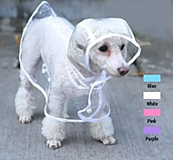 Cool Transparent Rain Jacket for Pets Dogs (assorted colours and sizes)