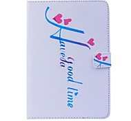 Letter Pattern PU Leather Full Body Case with Stand  for iPad mini 1/2/3