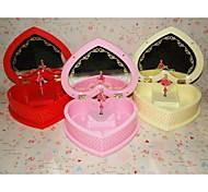 Heart Style Rotating Ballerina Make-Up Mirror Musical Boxes
