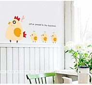 The Hen And the Chicken Lovely Wall Stickers