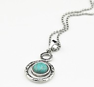 Red / Green Pendant Necklaces Alloy / Gem Party / Daily / Casual Jewelry