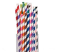 Strip Paper Straws for Parrty Supplies(25 PCS /Package)